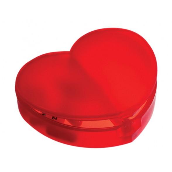 Pastillero forma Corazón 2 departamentos.