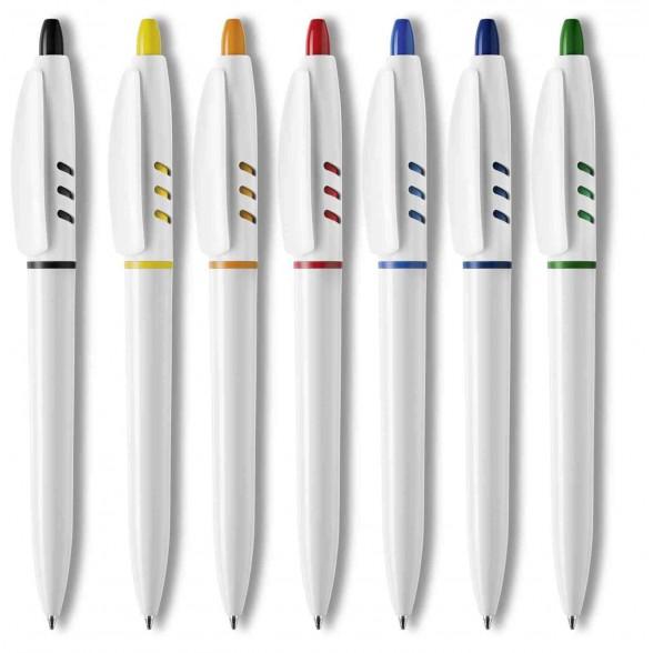 Bolígrafos publicitarios S30 White. Bolígrafos personalizados