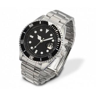 Reloj pulsera en acero inoxidable. Impresión incluida
