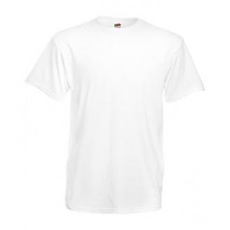 Camiseta publicidad HEAVY Fruit of the Loom. Blanco