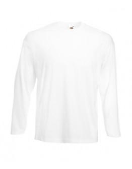 Camiseta publicidad Value Manga Larga blanca