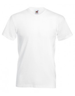 Camiseta para publicidad Value Cuello Pico Blanca