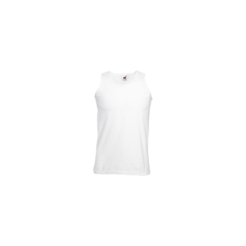 Camiseta tirantes ATLETA Fruit of the Loom blanca Camisetas Publicidad