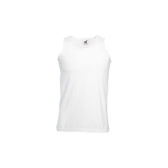 Camiseta tirantes ATLETA Fruit of the Loom blanca