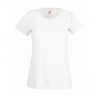 Camiseta publicitaria Valueweight de Mujer en color blanco
