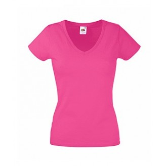 Camiseta Valuede Mujer cuello Pico / Camisetas Fruit of the Loom