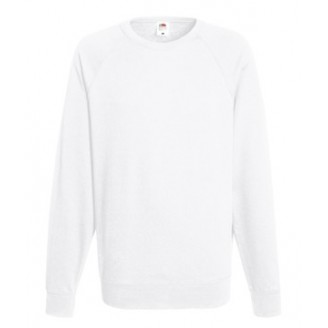 Sudadera Raglan Ligera Fruit f the Loom blanca