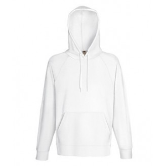 Sudadera con Capucha Ligera Fruit of the Loom blanca