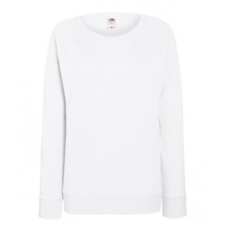 Sudadera Raglan Ligera de Mujer Fruit of the Loom color blanco