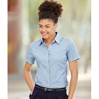 Camisa de trabajo Oxford Manga Corta para Mujer