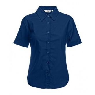 Camisa de trabajo Oxford Manga Corta para Mujer / Camisas Bordadas
