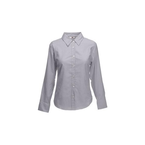 Camisa de trabajo Oxford Manga Larga para Mujer / Camisas Corporativas