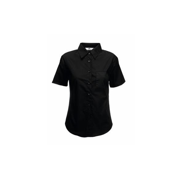 Camisa de trabajo Popelina Manga Corta para Mujer / Camisas Bordadas