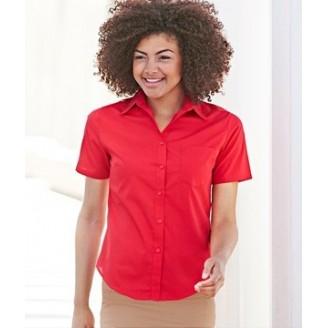 Camisa de trabajo Popelina Manga Corta para Mujer