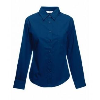 Camisa de trabajo Popelina Manga Larga para Mujer / Camisas Bordadas