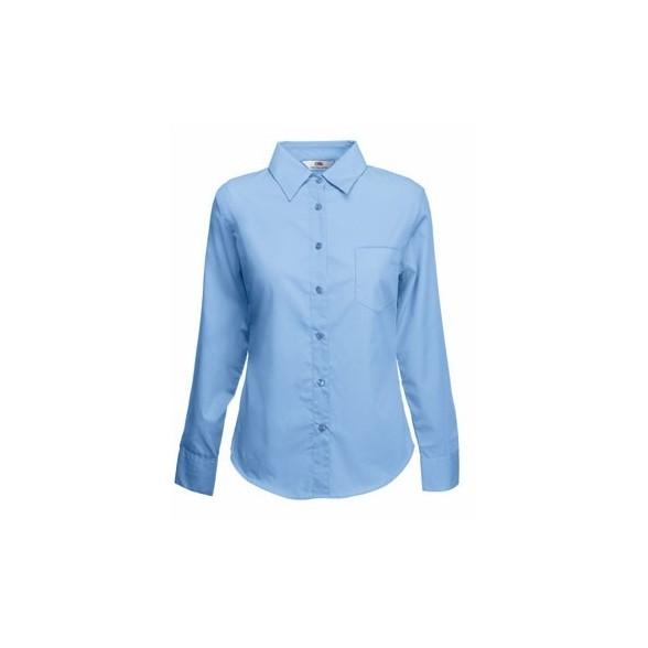 11d4330006 Camisa de trabajo Popelina Manga Larga para Mujer