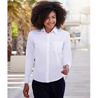 Camisa de trabajo Popelina Manga Larga para Mujer