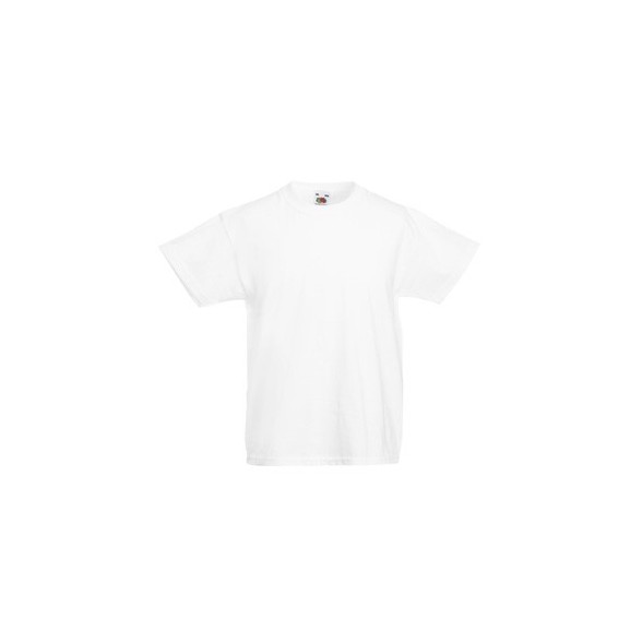 Camiseta publicitaria de niño Valueweight blanca