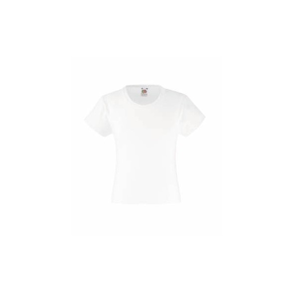 Camiseta de Niña Valueweight Fruit of the Loom color blanco