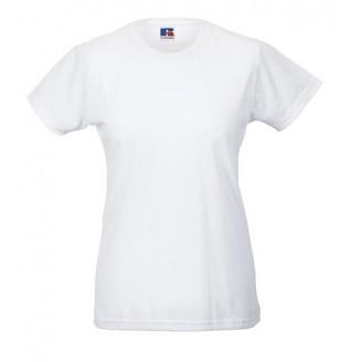Camiseta publicitaria Blanca Slim T de mujer