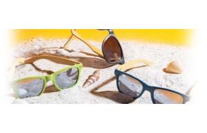 Gafas de sol publicitarias.